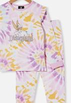Cotton On - Florence long sleeve pyjama set licensed - rainbow tinkerbell