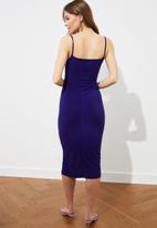Trendyol - Mor chiffon collar knitted dress - purple