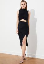 Trendyol - Waist detailed dress - black