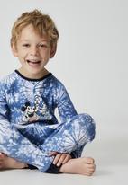 Cotton On - Oscar long sleeve pyjama set licensed - blue  & white