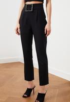 Trendyol - Black stone belt trousers - black