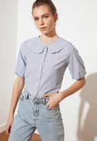 Trendyol - Mavi collar detailed shirt - blue
