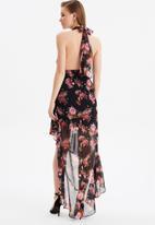 Trendyol - Collar detailed evening dress - multi