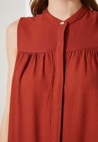 Trendyol - High neck dress - burnt orange