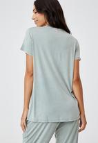 Cotton On - Sleep recovery maternity T-shirt - desert sage wash