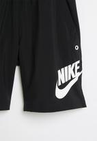 Nike - B nsw woven hbr short - black/iron grey/white/white