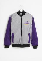 NBA - Lakers icon logo bomber jacket - grey & purple