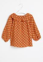 POP CANDY - Girls polka dot blouse - orange