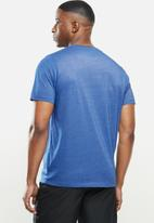 New Balance  - Tenacity heather tech short sleeve - blue