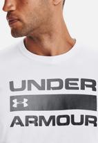 Under Armour - Ua team issue wordmark short sleeve tee - white