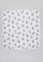 UP Baby - Baby girls bear blanket - white & grey