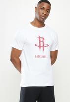 NBA - Rockets icon logo straight hem printed T-shirt - white