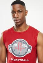 NBA - Rockets red retro vest straight hem - red