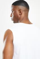 NBA - Bulls white retro vest straight hem - white