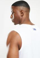 NBA - Warriors white retro vest straight hem - white