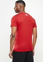 NBA - Bulls basketball straight hem printed T-shirt - red