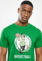 NBA - Icon celtics straight hem printed T-shirt - green