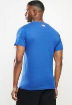 NBA - Icon warriors basketball straight hem printed T-shirt - blue