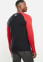 NBA - Bulls icon logo long sleeve printed T-shirt - black