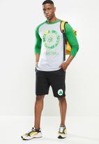 NBA - Celtics icon logo long sleeve printed t-shirt - grey