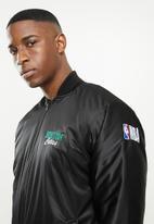 NBA - Celtics icon logo bomber jacket - black
