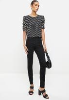 Revenge - Polka dot blouse top - black & white