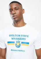 NBA - Golden state straight hem printed T-shirt - white