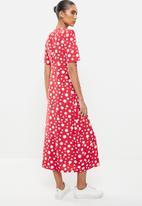 Revenge - Polka dot midi dress - red & white