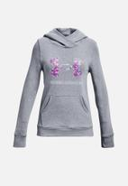 Under Armour - Rival fleece logo hoodie - grey