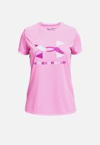 Under Armour - Tech graphic big logo short sleeve tee - pink