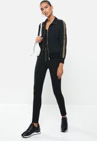 SISSY BOY - Sporty black-gold jacket - black