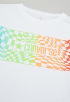 Converse - Cnvb warped checker logo tee - white