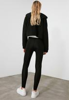 Trendyol - Bright disco knit tights - black