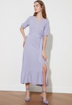 Trendyol - Lila belted dress - purple