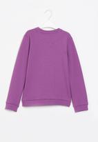 Aca Joe - Pre-girls brushed fleece sweater - purple