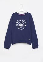 Aca Joe - Pre-girls brushed fleece sweater - navy