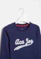 Aca Joe - Big-girls long sleeve dress - navy