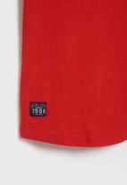 Aca Joe - Big-girls long sleeve dress - red