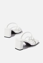 Cotton On - Isla toe loop heel - white