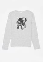 MANGO - T-shirt spencer - grey