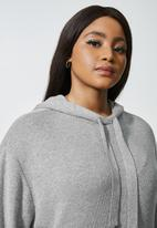 Superbalist - Knitwear hoodie - grey