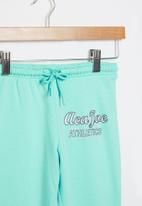 Aca Joe - Pre-girls brushed fleece jogger - aqua
