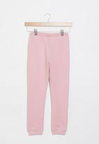 Aca Joe - Pre-girls brushed fleece jogger - blush pink