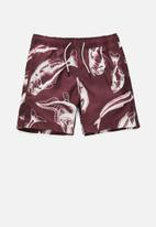 G-Star RAW - Dirik piranha swimshorts - burgundy