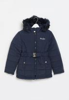 Aca Joe - Big-girls longer length puffer jacket - navy
