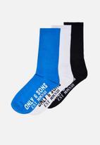 Only & Sons - Onsanders tennis sock 3 pack - multi