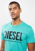Diesel  - Diego short sleeve logo tee - light blue