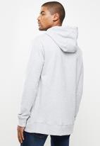 Quiksilver - Comp logo screen hoodie - grey
