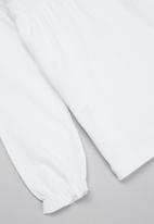 MANGO - T-shirt brillo - white