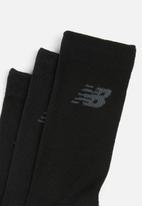 New Balance  - Core crew sock 3-pack - black